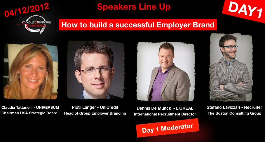Day 1 - Line Up - Employer Branding Revolution LIVE TOUR!